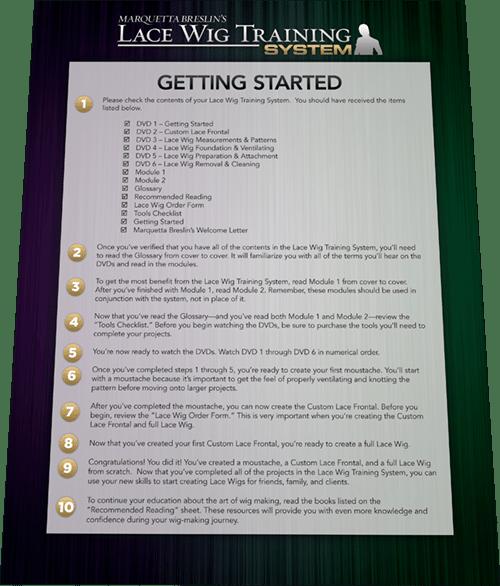 Lace Wig Training System Workbook 2